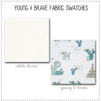 Young & Brave Bedding Collection Fabric Swatches Only