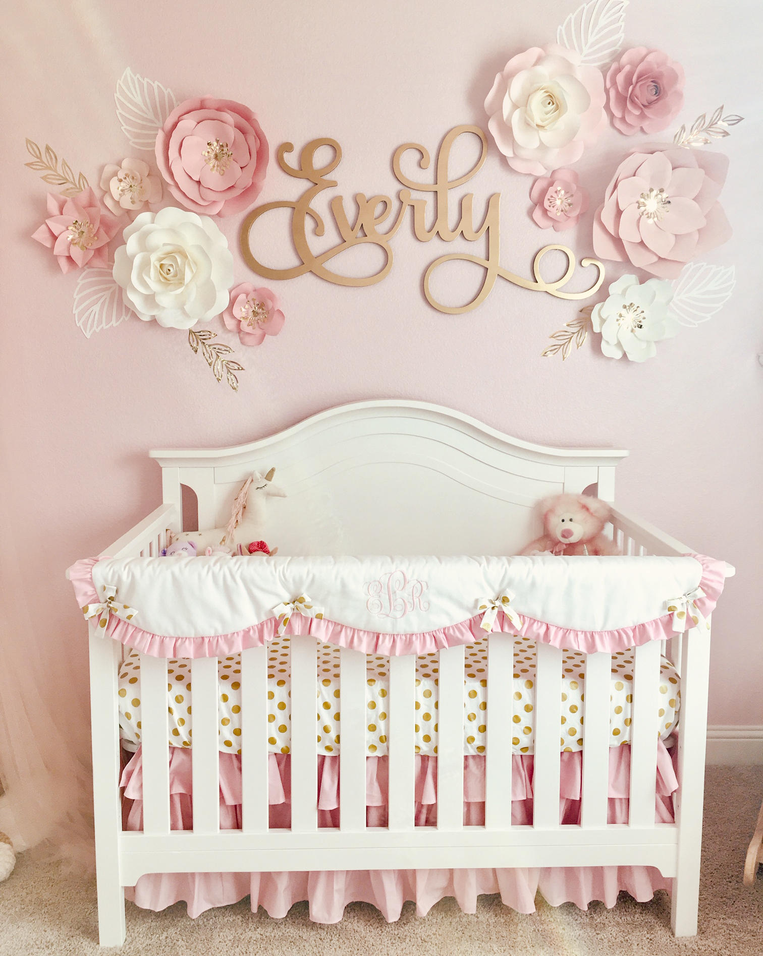 Pink And Gold Crib Bedding New Arrivals Inc