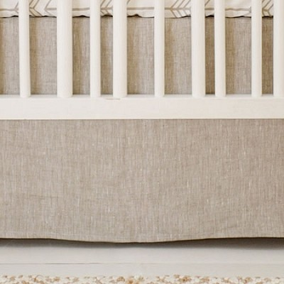 Neutral Linen Crib Skirt | Be Brave Collection