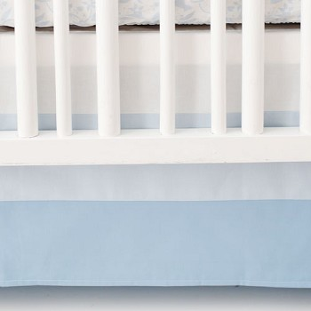 Blue Ombre Crib Skirt | Born Wild in Blue Crib Collection