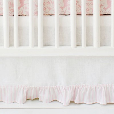 White Ruffle Crib Skirt | Born Wild in Pink Collection