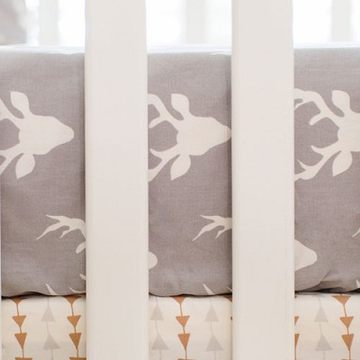 Deer Crib Sheet | Buck Forest in Mist Crib Collection