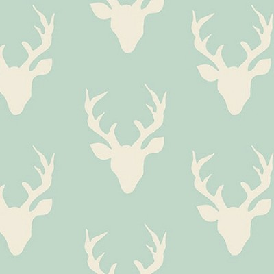 Deer Fabric | Art Gallery Buck Forest Mint Fabric