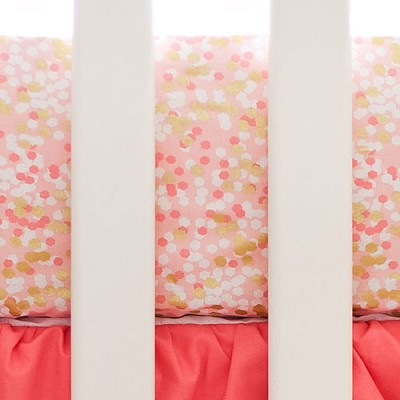 Coral Crib Sheet | Shimmer Reflections Collection