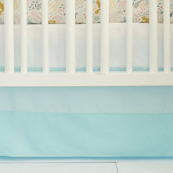 Ombre Tailored Aqua Nursery Skirt  |  Faraway Forest Collection