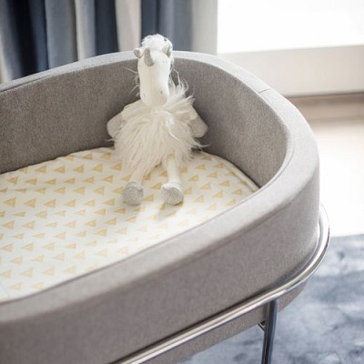 Gold Triangles Bassinet Sheet | Head West Crib Collection