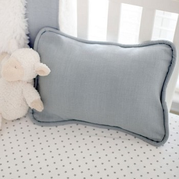 Gray Linen Throw Pillow | Washed Linen in Gray Crib Collection