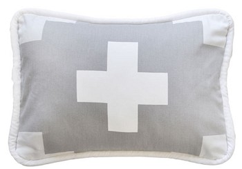 Gray Pillow | Gray Swiss Cross Crib Collection