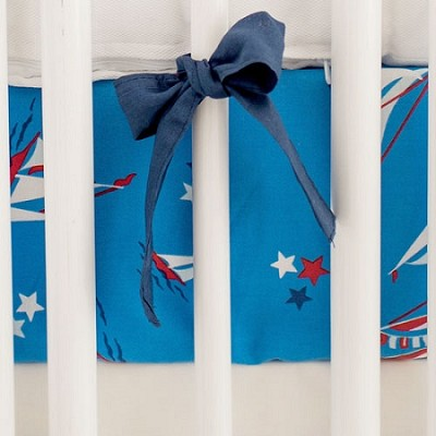 Navy Blue Crib Sheet | Harbor Collection