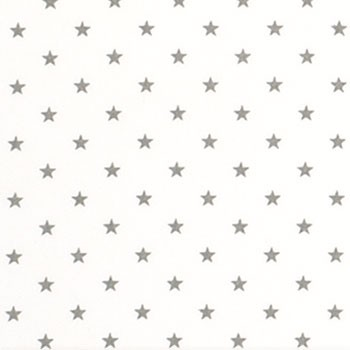 Gray Star Fabric | Premier Prints Mini Star White/Storm Twill