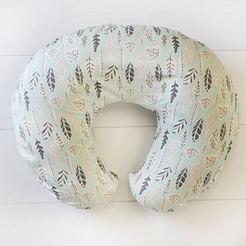 Mint Nursing Pillow Slipcover | Buck Forest in Mist Collection