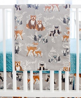 Woodland Baby Blanket | Oh Hello Fog Crib Collection