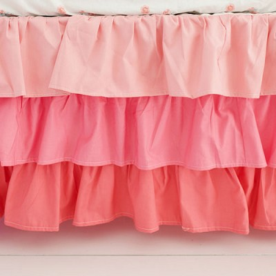Coral Ruffled Nursery Skirt | Coral Ombre Baby Collection
