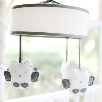 Gray Owl Baby Mobile