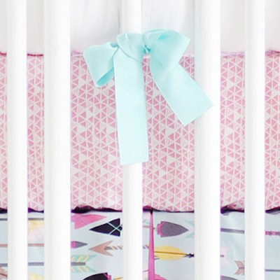 Pink Crib Sheet | Little Explorer in Pink Collection