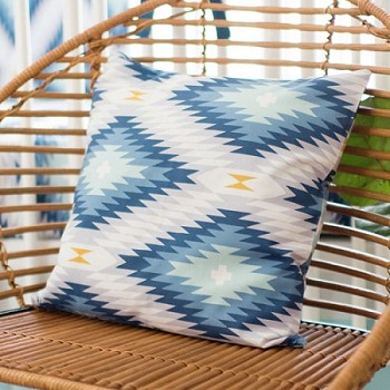 Aztec Pillow  |  Wander in Blue Collection