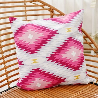 Pink Aztec Pillow | Wander in Pink Crib Collection