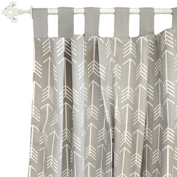Gray Arrow Curtains | Wanderlust in Gray Crib Collection