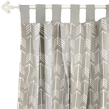 Gray Arrow Curtains Wander In Crib Collection