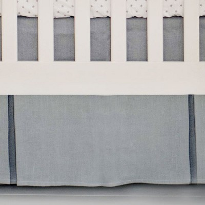 Grey Crib Skirt | Washed Linen in Gray Collection