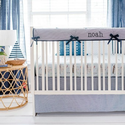 Nautical Crib Bedding | Ahoy Matey Rail Cover Collection
