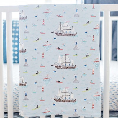 Nautical Baby Blanket on Sale | Ahoy Matey Collection