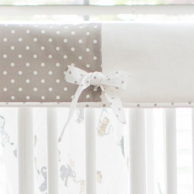 Neutral Rail Guard Only | Animal Parade Crib Collection