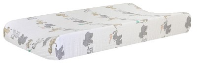 Muslin Changing Pad Cover | Animal Parade Collection