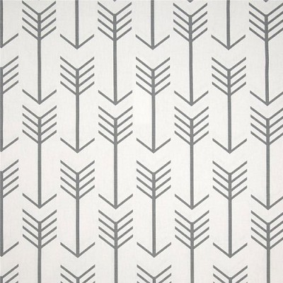 Arrow Fabric | Premier Prints Arrow White/Cool Gray