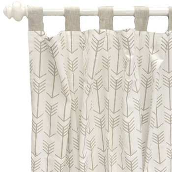 Khaki Arrow Curtains | Be Brave Crib Collection