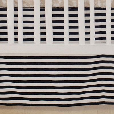 Black Stripe Crib Skirt | Bear Hug Collection