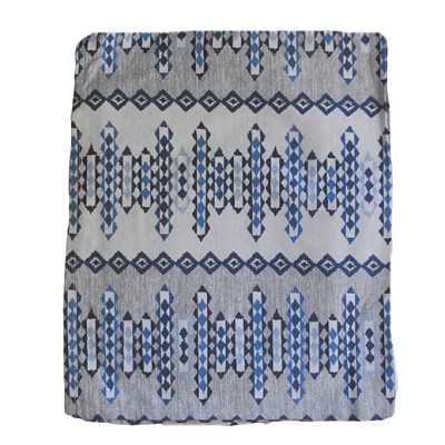 Custom Blue Aztec Crib Skirt