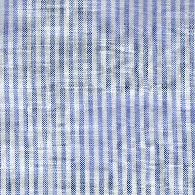 Stripe Light Blue Changing Pad Cover | Washed Linen in Cabo Crib Collection