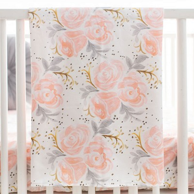 Floral Baby Blanket | Briar Rose Bedding Collection