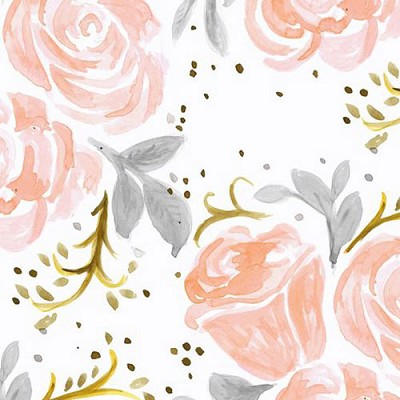 Floral Changing Pad Cover | Briar Rose Crib Collection