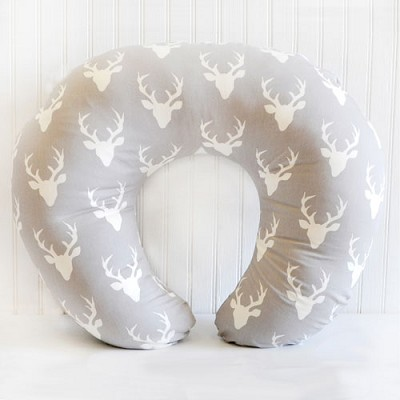 Deer Nursing Pillow Cover | Buck Forest in Mist Collection