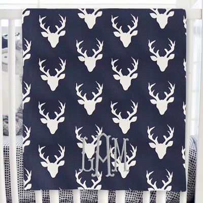 Deer Baby Blanket | Buck Forest in Twilight Collection