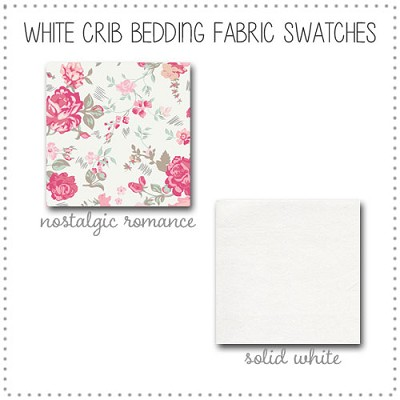 White Crib Collection Fabric Swatches Only
