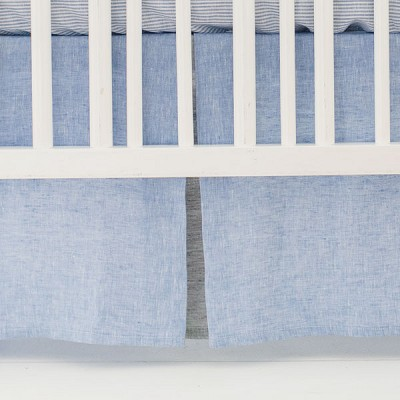 Linen Crib Skirt Pleated | Nantucket Collection