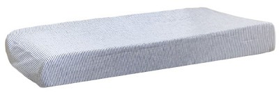 Blue Changing Pad Cover | Washed Linen in Cabo Crib Collection