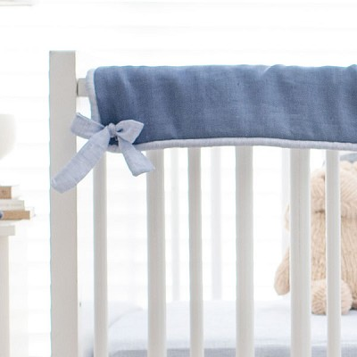 Short Side Crib Rail Guard | Washed Linen in Cape Cod Collection