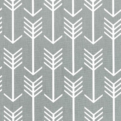 Gray Arrow Crib Sheet