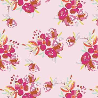 Corsage Charm Pink Fabric  by Art Gallery Fabrics