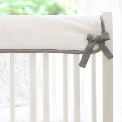 Short Side Crib Rail Guard | White with Dark Gray Accent