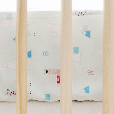 Aqua Crib Sheet | Drama Llama Crib Collection