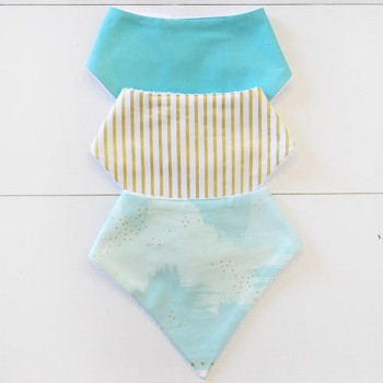 Baby Bandana Bib Set | You are Magic in Aqua Collection