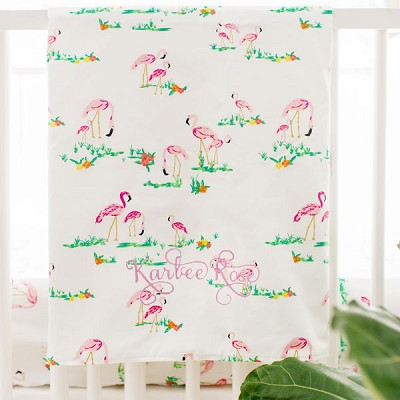 Flamingo Baby Blanket | Tropical Island Bedding Collection
