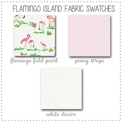 Flamingo Island Crib Collection Fabric Swatches Only
