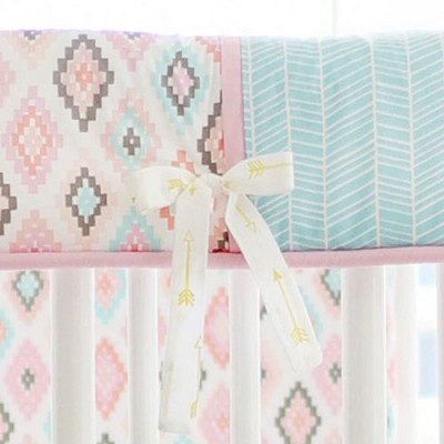 Pastel Crib Rail Guard/Cover Only | Flight Arrow Crib Collection
