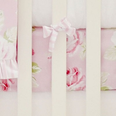 Pink Floral Crib Sheet | Pink Desert Rose Collection